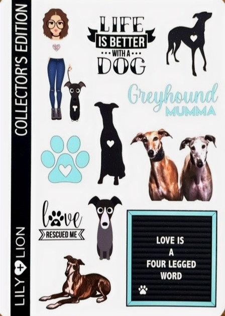 11 Greyhound Stickers