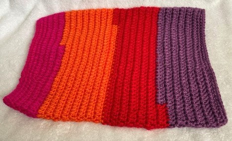 Knitted Multi-coloured snood