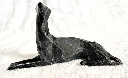 Small 3D Low Poly Greyhound Figurine