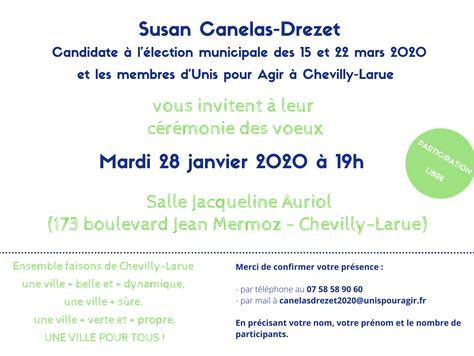 Invitation aux voeux de Susan Canelas-Drezet - J-49