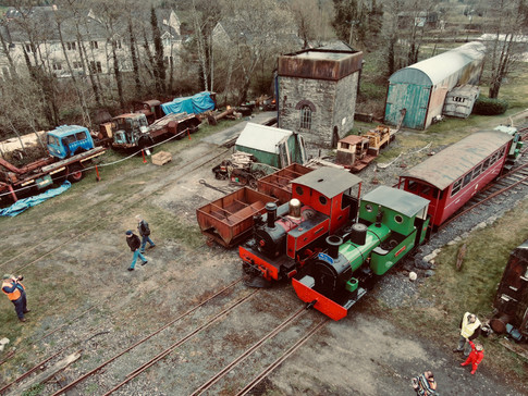 Nancy & Dromad lined up before Dromad's departure for restoration