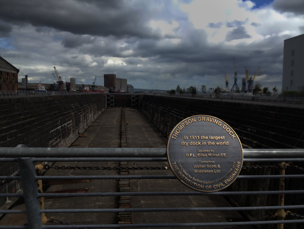 The Thomason Dry Dock is the cradle of Titanic