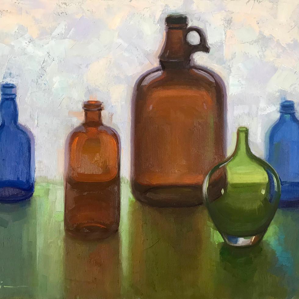 back lit bottles