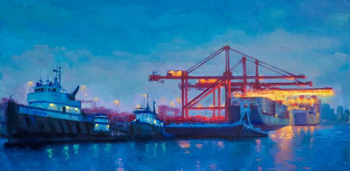 Night at the docks