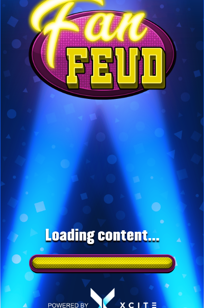 Fan Feud logo and loading bar