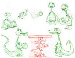 zooball character sketches