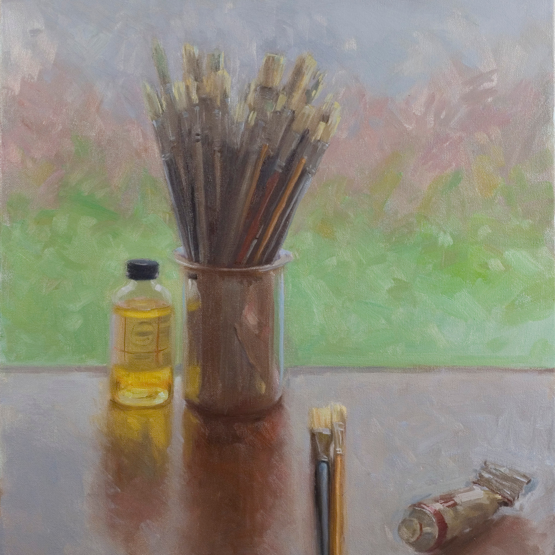 back lit brushes