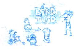 Bird turd characters