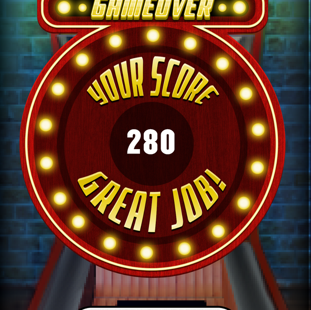 Skee Ball Game over screen