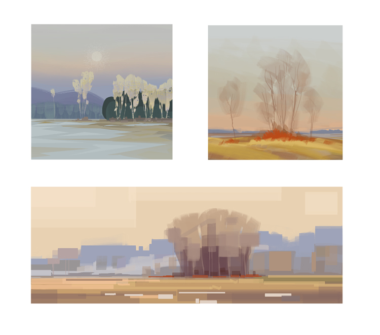 Color and mood studies