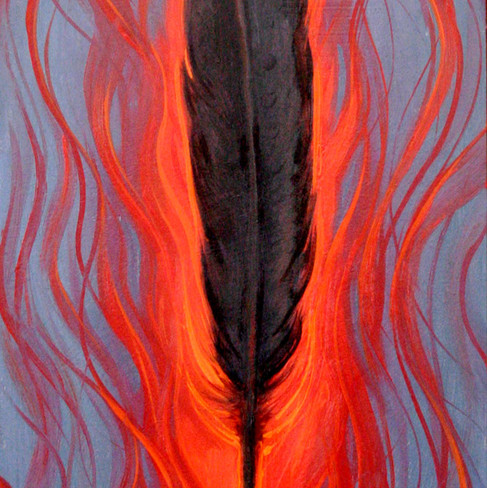 Feather of the flame