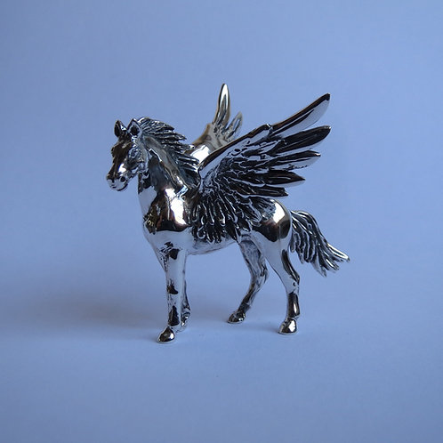 Winged horse, silver