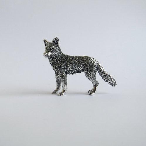 Silver wolf figurine