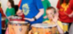 Family Drumming photo by Jenny Harper