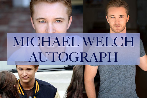 Michael Welch Autograph