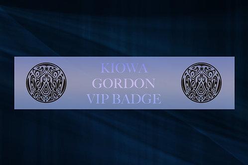 Kiowa Gordon VIP Badge