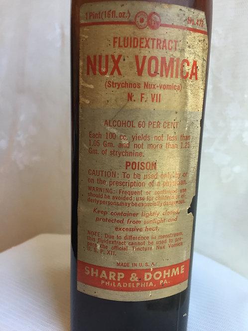 Nux Vomica Vintage Medicine Bottle