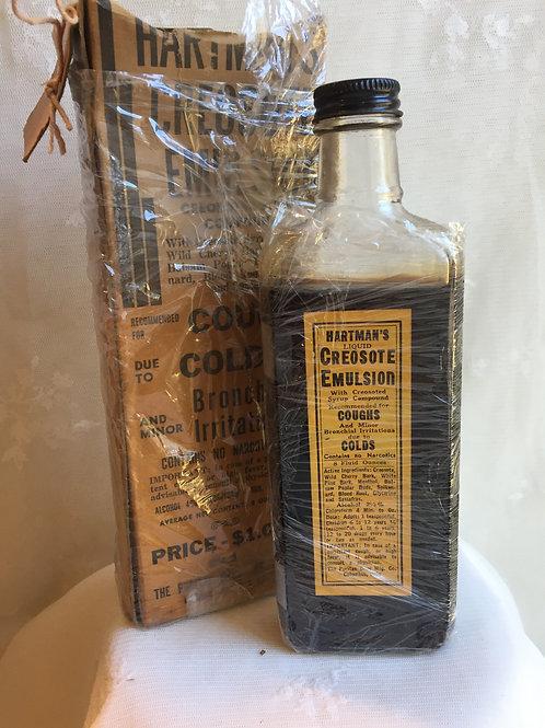 Vintage Creosote Medicine Bottle