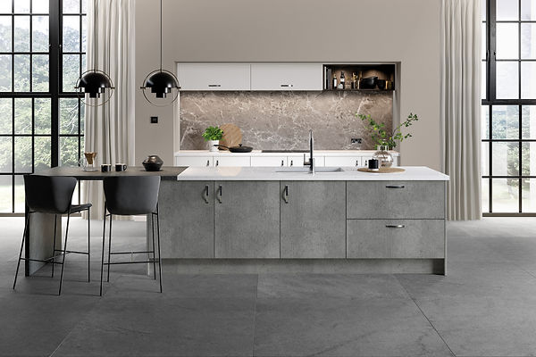 Linear Doors in Boston Concrete from The Kitchen Island