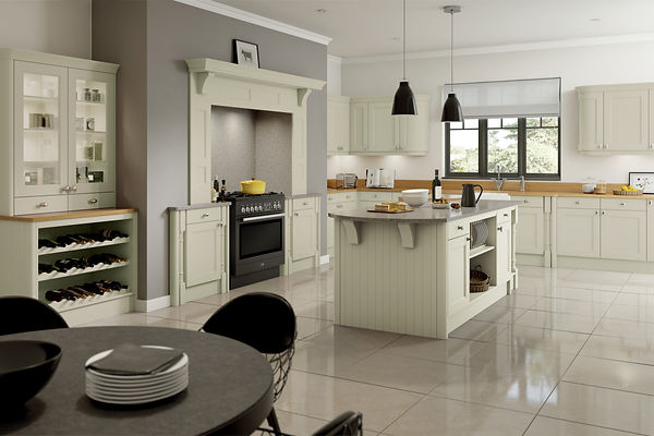 Sage Green Windsor Shaker Doors from The Kitchen Island