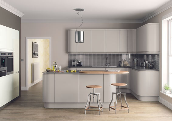 Lucente Painted Doors in Cashmere from The Kitchen Island