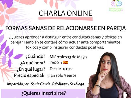 Formas sanas de relacionarse en pareja - Charla online