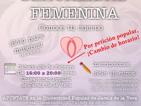 I Jornadas Sexualidad Femenina. Conoce tu cuerpo