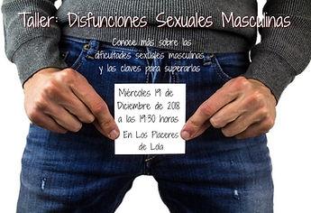cartel taller disfunciones sexuales masc