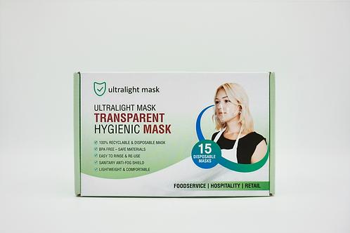 ULTRALIGHT MASK  (Box of 15 Masks) - $21
