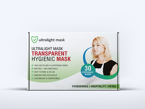 ULTRALIGHT MASK  (Box of 30 Masks) - $39