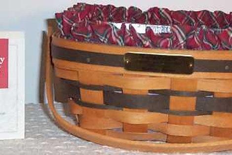 Vintage 1993 Longabergar Christmas Bayberry Basket
