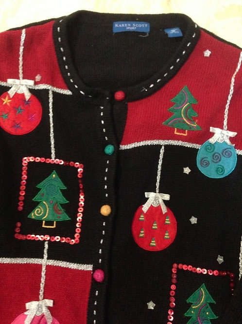 Vintage  Christmas Sweater by Karen Scott