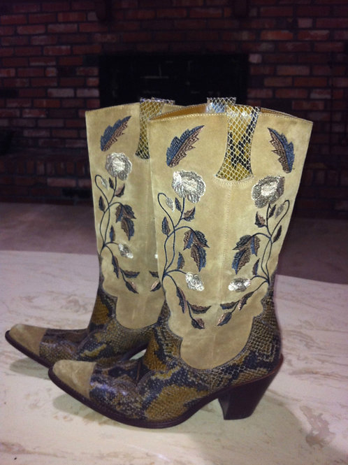 Antonio Melani Brown  8 1/2 m boots 3inches heel 15 inches tall