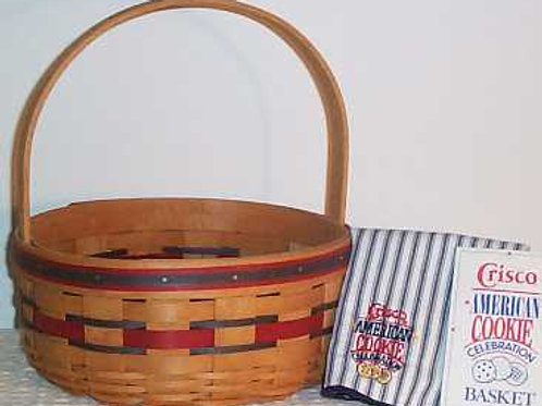 Vintage 1992 Longaberger Crisco Cookie Basket