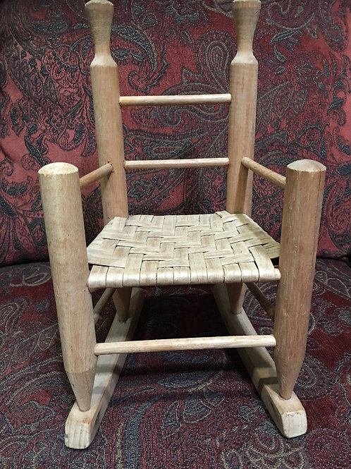 Vintage Doll Rocking Chair 141/2 tall 81/2 front wide 61/2 back wide