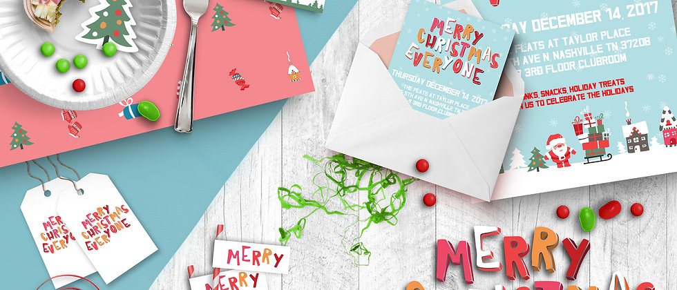 Merry Christmas Everyone Printable Party Pack