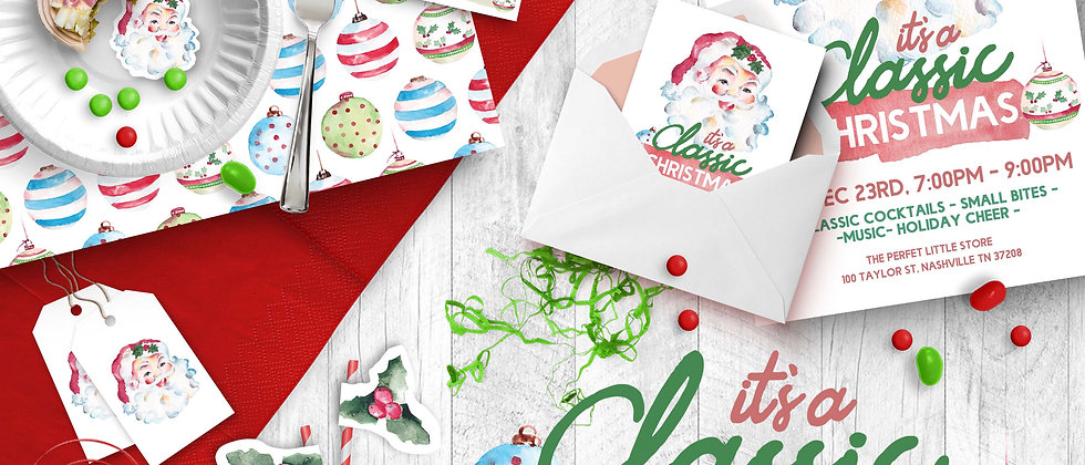 It's A Classic Christmas Printable Party