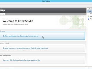 Citrix XenApp/XenDesktop 7.9 Create a Site