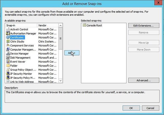 Citrix XenApp/XenDesktop 7 9 Configure SSL/TLS on the