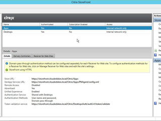 Citrix NetScaler Gateway 11.1 StoreFront Configuration