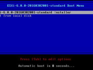 VMware ESXi 6.0 Installation