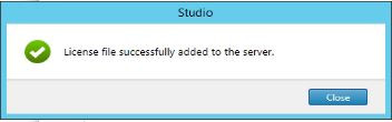 Citrix License successfully added
