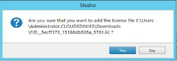 Confirmation that the Citrix license file should be added on the the server