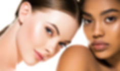 Different ethnicity women beauty skin po