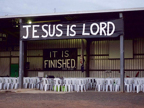 Jesus is Lord - Shed.JPG