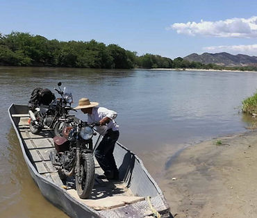 Odyssey Motorcycle Colombia - River crossing