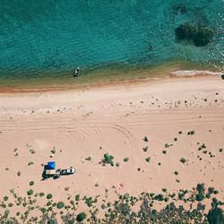 beach camp site