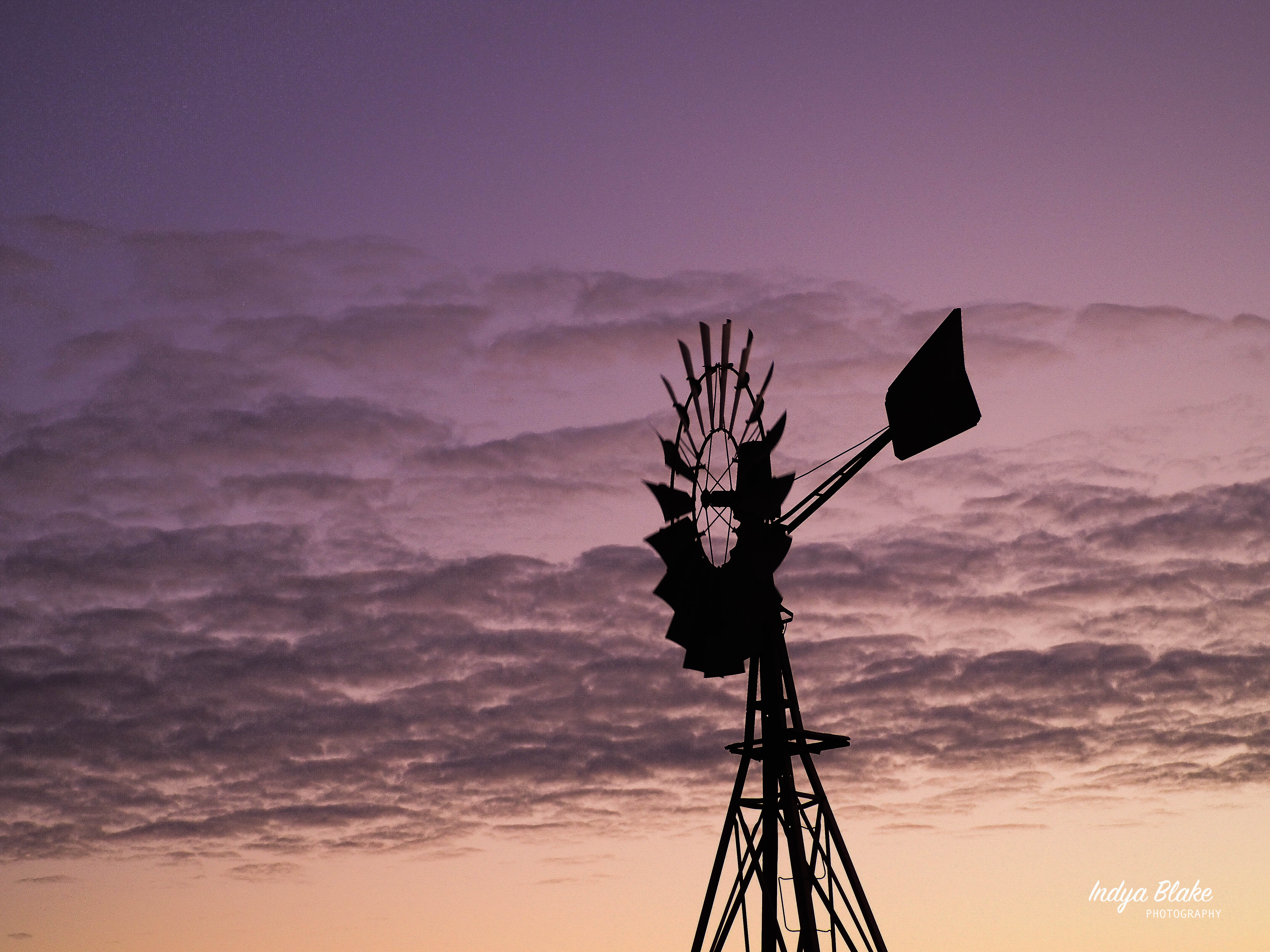 Windmill Side Profile and Sunset