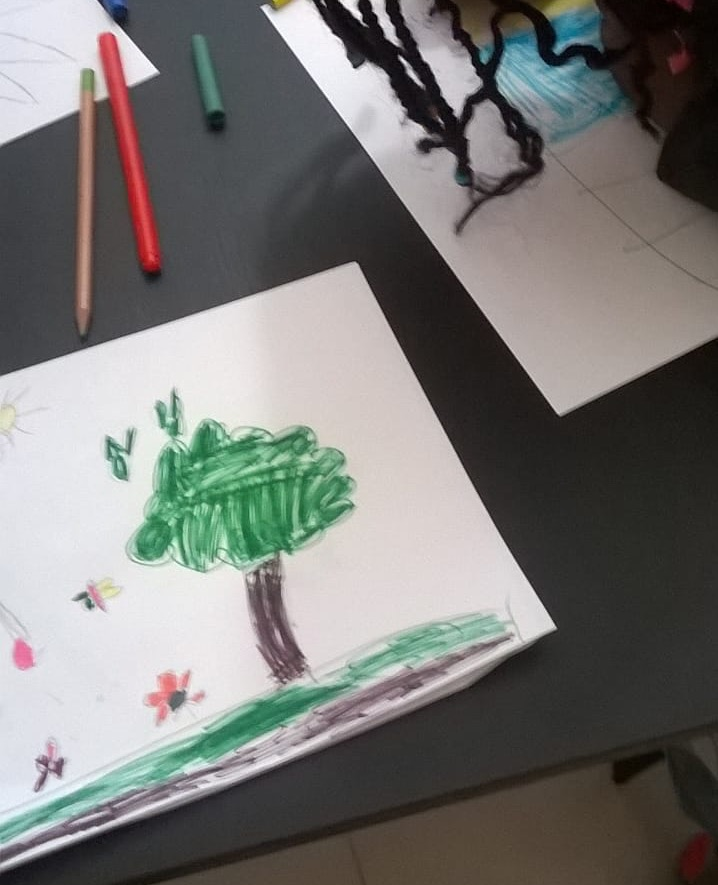 YTT Drawing Workshop at Le Collectif des Communautés Subsahariennes au Maroc (CCSM) in Rabat, Morocco (October 2018)