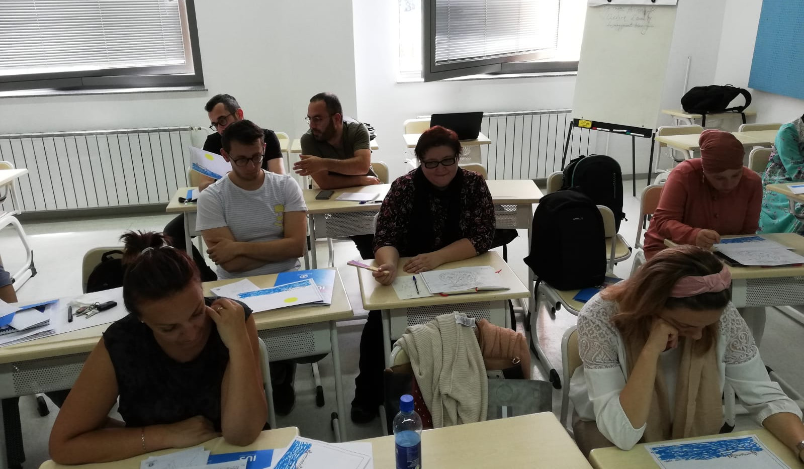 Students participating in exercises on inclusion that promotes equality and fundamental human-rights at the International University of Sarajevo/Balkan Studies Centre.
